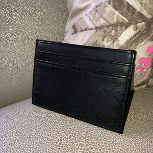 Coach black leather credit card holder